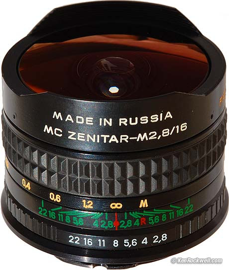 Zenitar 16mm Fisheye