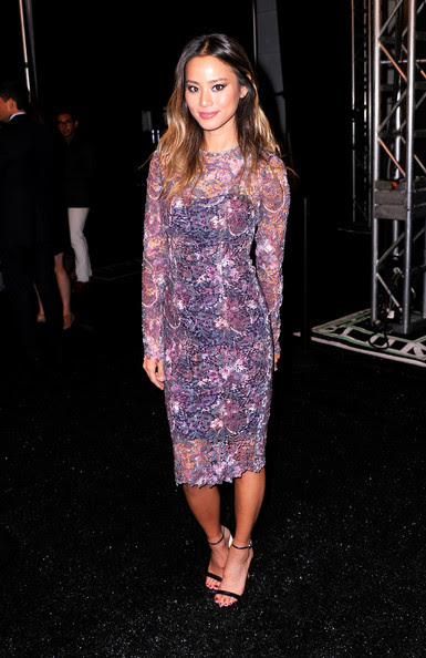 Jamie Chung - Monique Lhuillier - Backstage - Mercedes-Benz Fashion Week Spring 2015