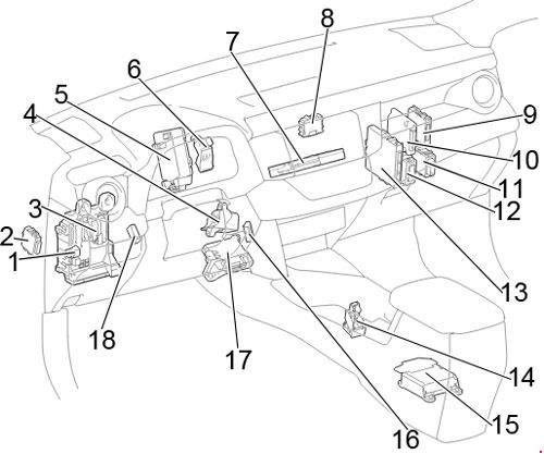 12 18 Toyota Rav4 Xa40 Fuse Diagram