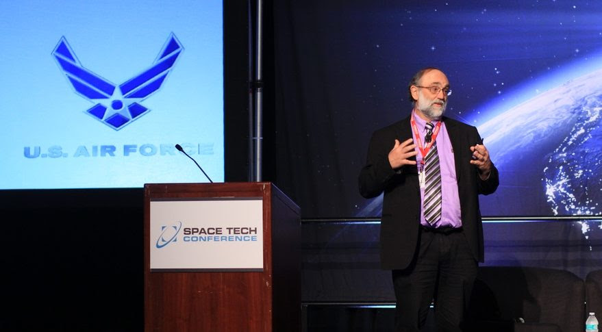 David Davis, chief systems engineer for the U.S. Air Force Space and Missile Systems Center in Los Angeles, is exploring the implications the military's focus on resilience will have on satellite building and testing. Credit: Space Tech Expo