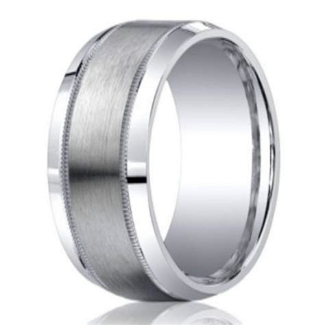 9mm Designer Argentium Silver Men's Ring with Milgrain