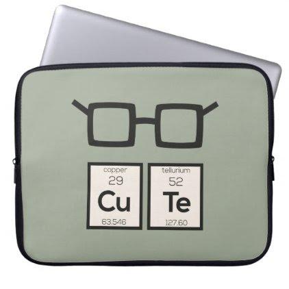 Cute chemical Element Nerd Glasses Zwp34 Computer Sleeve