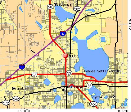 Lakeland Florida Zip Code Map Florida Map 2018