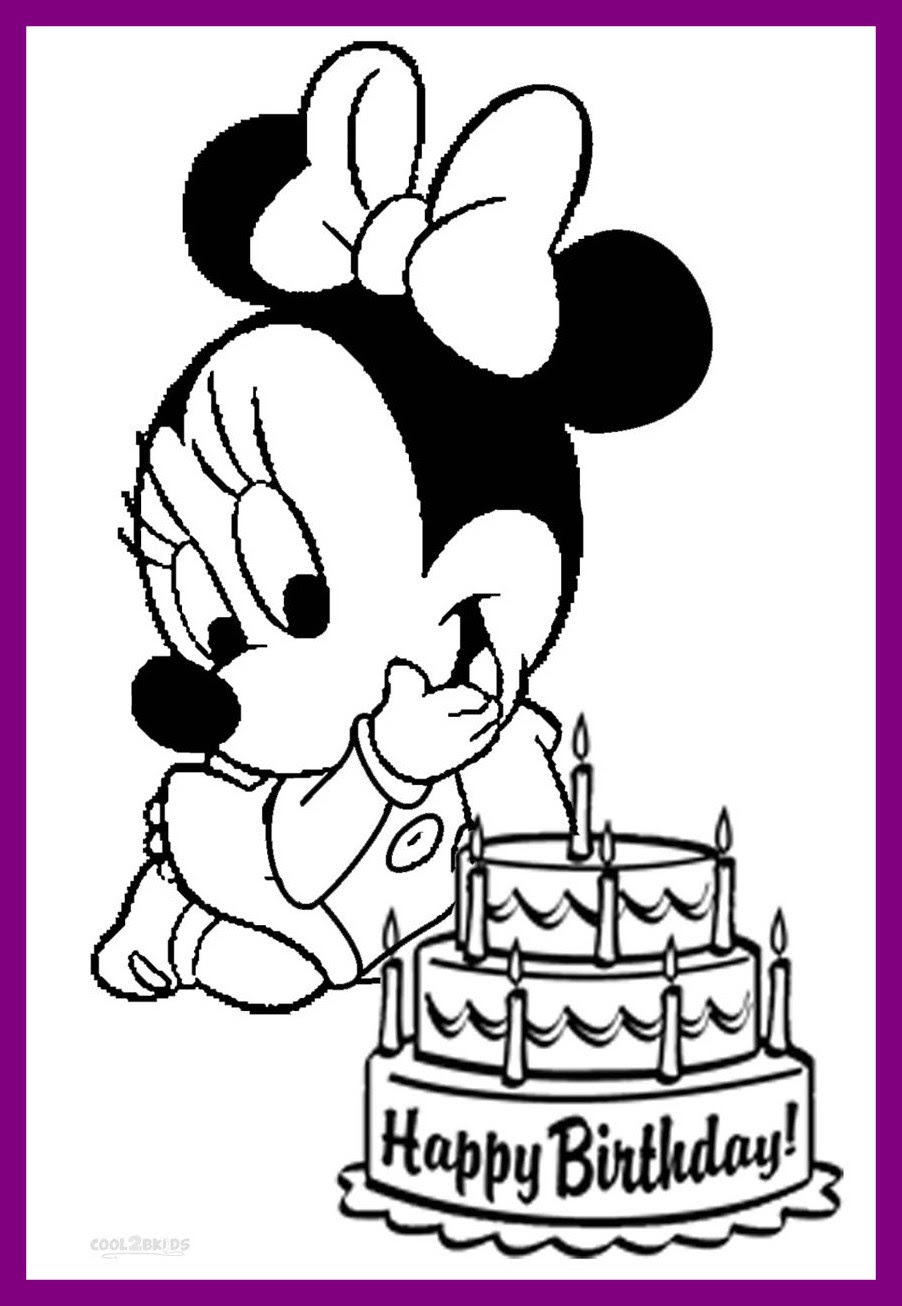 Happy Birthday Disney Coloring Pages at GetDrawings | Free ...
