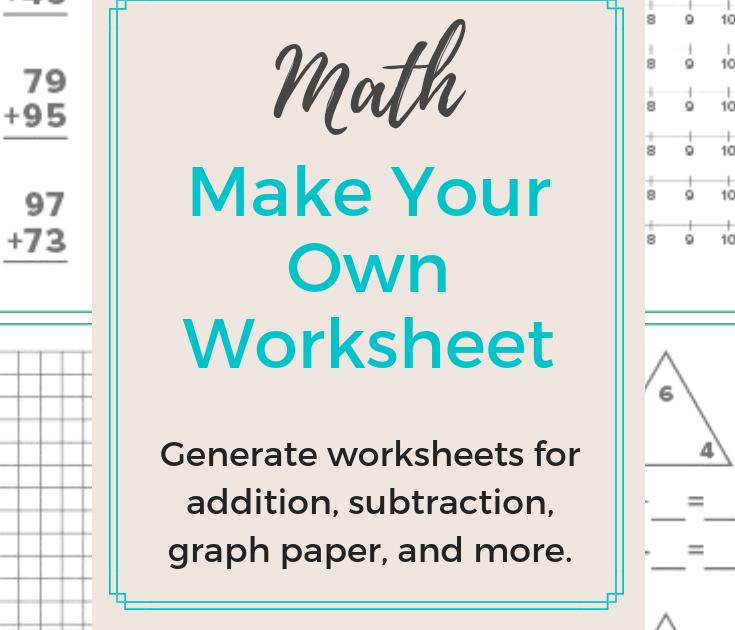 Division Worksheet Generator   Free Download Worksheet ...