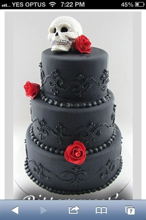 17 Best images about Wedding cake on Pinterest   Skull