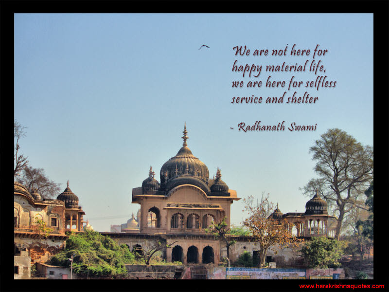 Selfless Service And Shelter Spiritual Quotes By Iskcon Desire Tree