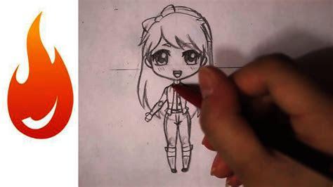 draw  chibi anime girl character tutorial youtube