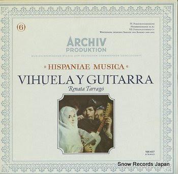 TARRAGO, RENATA hispaniae musica / vihuela y guitarra