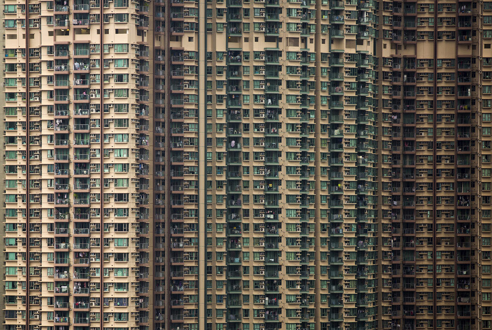 Гонконгские жилые дома-муравейники