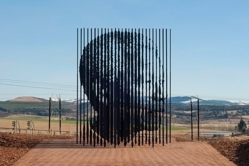 nelson mandela monument by marco cianfanelli