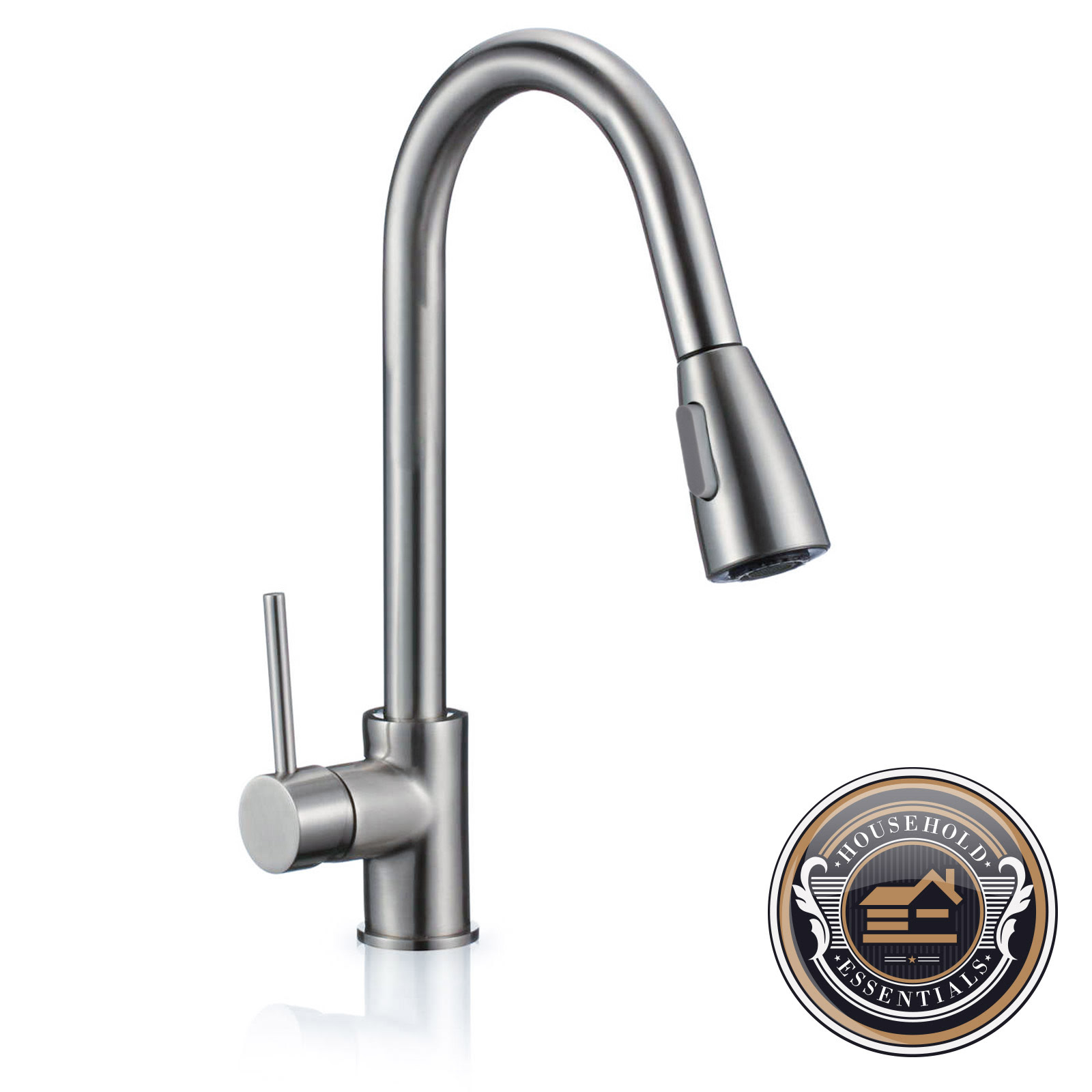 "16"" Pull Down Kitchen and Bar Sink Faucet - One Hole ..."