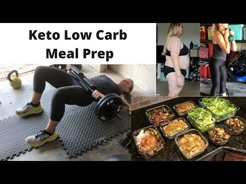 Simple Keto Meal Prep | Low Carb | Workout Update