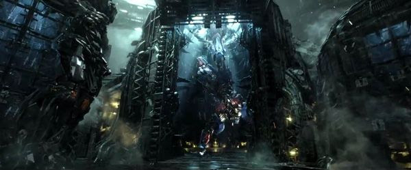 Optimus Prime is held captive by Lockdown in TRANSFORMERS: AGE OF EXTINCTION.