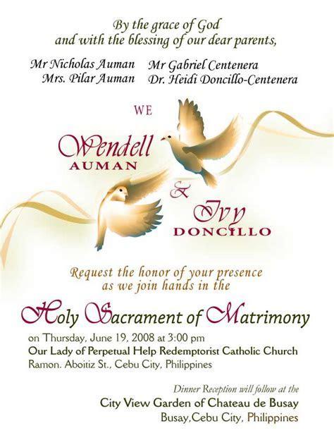 Invitation Card Designs   Wendell & Ivy Wedding