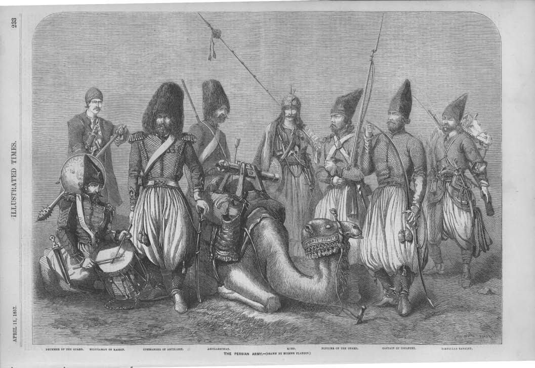 Image result for 1857 WAR WITH PERSIA BOMBAY CAVALRY SOLDIERS FIGHT
