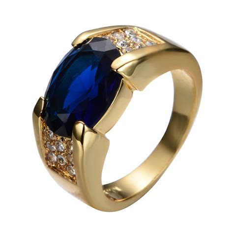Size6 12 Blue Sapphire Big Stone Engagement Ring 10kt