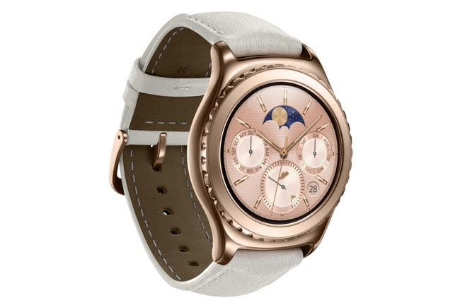 Photo Samsung Gear S2 Classic Rosegold Left Side