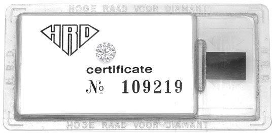 Foto 1, DIAMANT 0,60 CARAT BRILLANT HRD LUPENREIN TOP WESSELTON, D5166