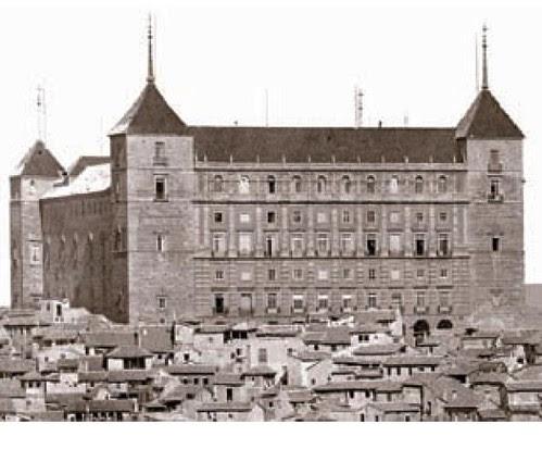Alcázar de Toledo en 1872. Foto de Jean Laurent. Archivo Ruiz Vernacci. Fototeca Histórica del Estado