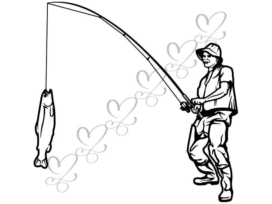 Download Fishing Fish Catch Hook Bass Angling Hobby Sports Gear Line Reel Svg Designsbyaymara