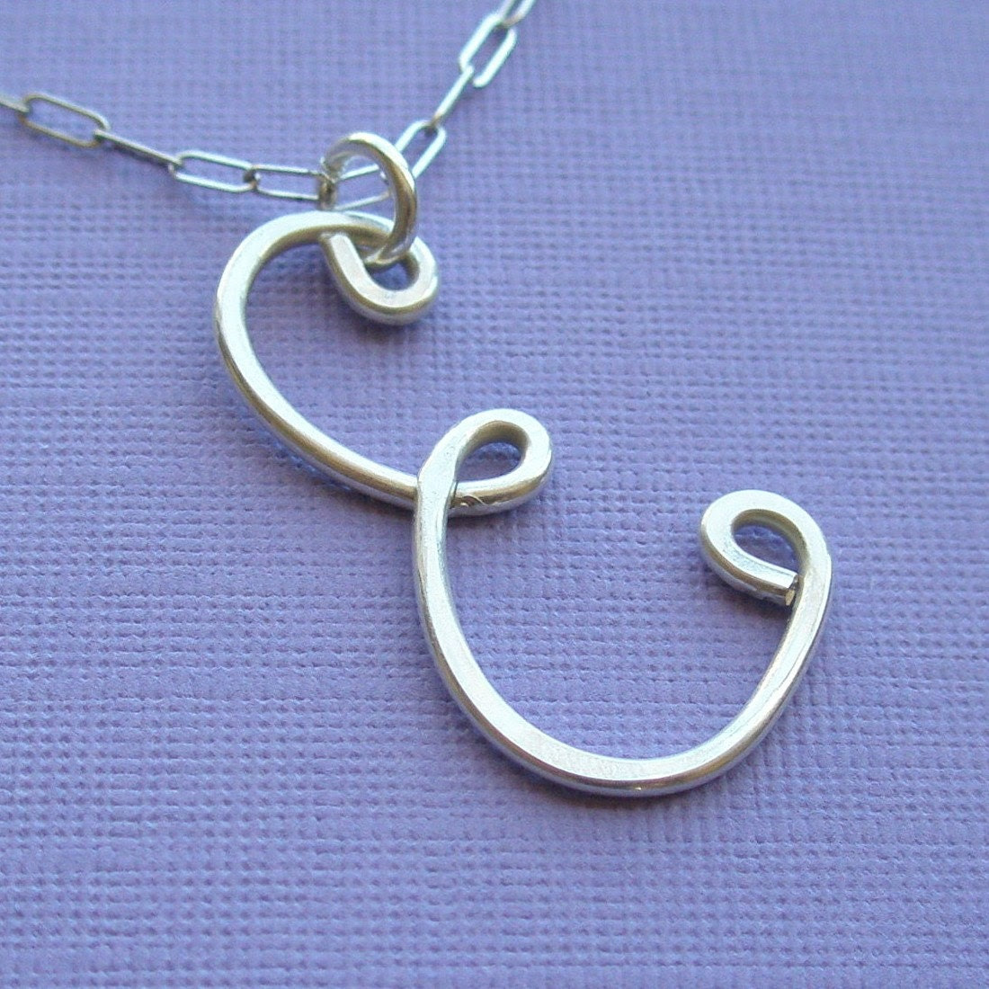 The Letter E Necklace - all sterling silver