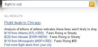 Bing Flight to ORD