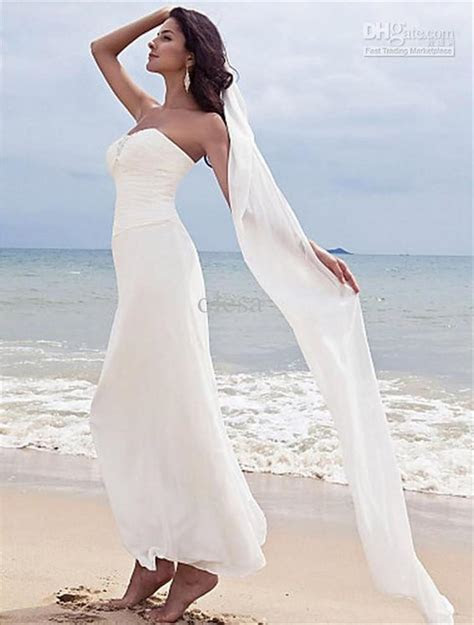 Discount 2016 Cheap Beach Wedding Dresses Simple Elegant
