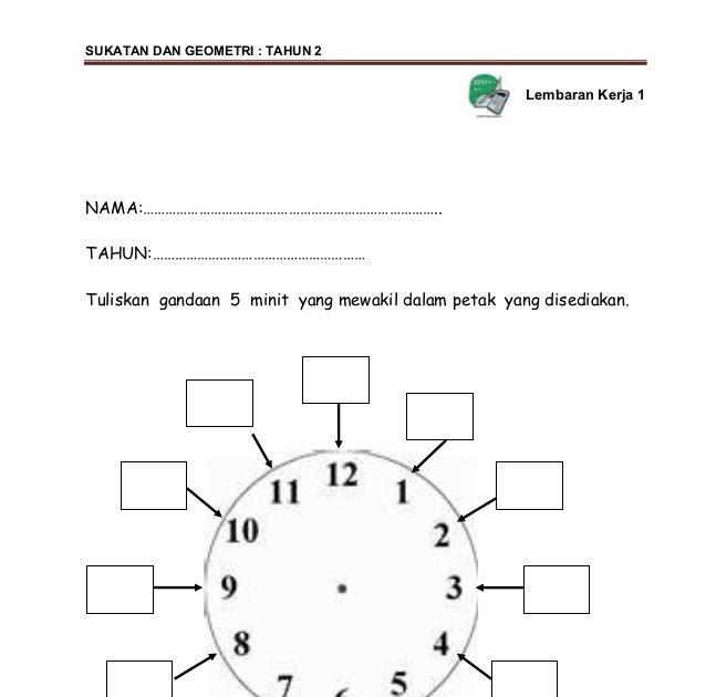 Soalan Matematik Jam Tahun 2 Selangor C