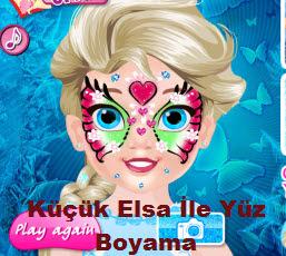 Küçük Elsa Ile Yüz Boyama Oyna