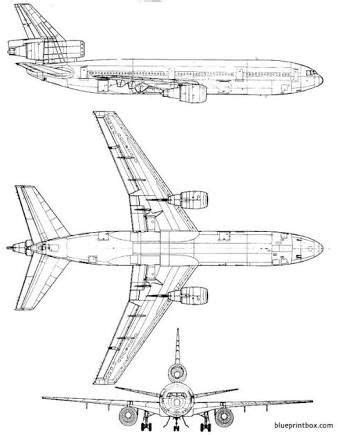 McDonnell Douglas DC-10. | Airplane, Airplane vector