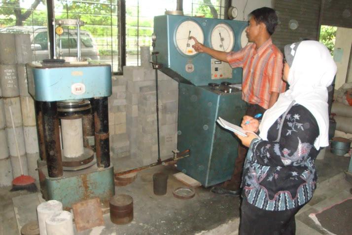 Proses Uji Tekan Beton Silinder