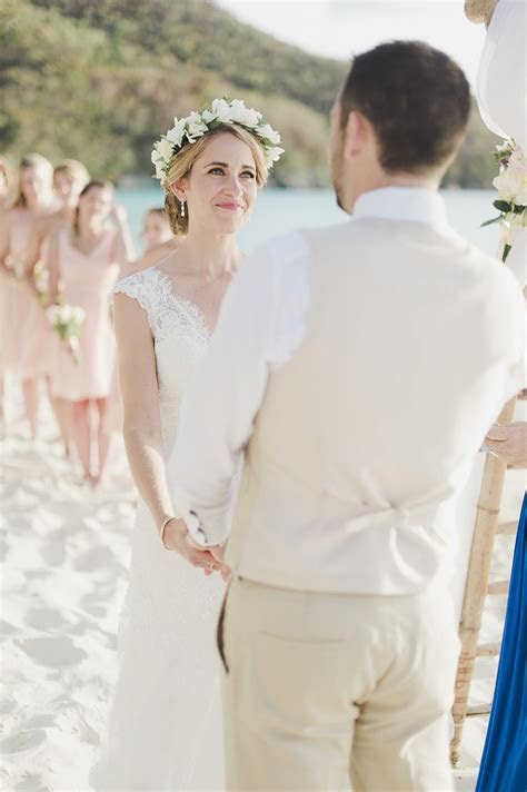 Romantic Beach Destination Wedding on St. John, USVI   The