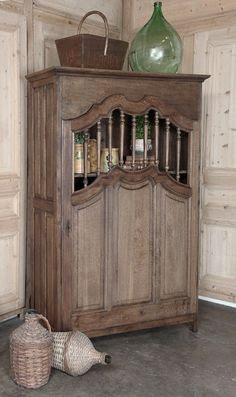 Antique Country French Kitchen Cabinet..