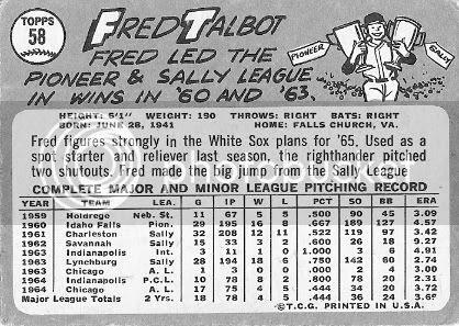 #58 Fred Talbot (back)