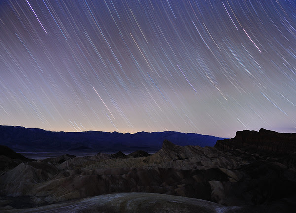 Star Trails at Zabriskie Point
