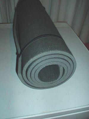 Rolled sleeping pad