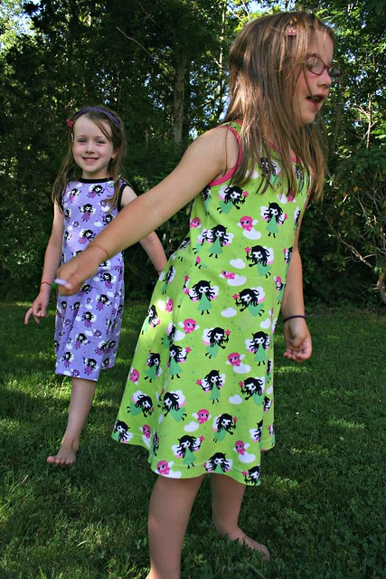purple and green fairy dresses
