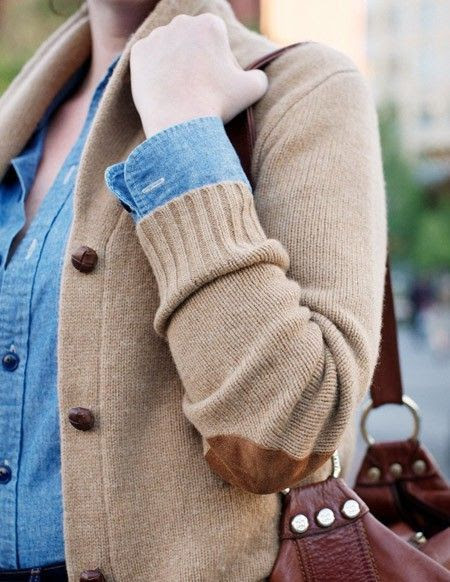 elbow patches on cardigans,♥