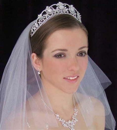 Beautiful Wedding Tiaras with Veils   Veils   Pinterest