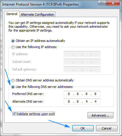 Assigning DNS Servers to Googles
