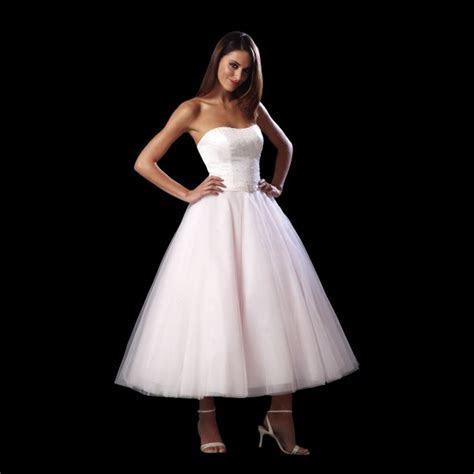 Jasmine Strapless Tea Length Wedding Dress by White Rose