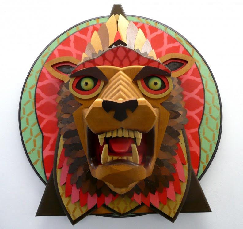 masque aj fossik 11 793x750 Les monstres en relief dAJ Fosik  art
