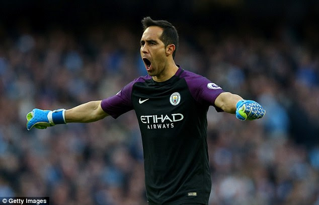 Claudio Bravo will return to his former club Barcelona with Manchester City this week