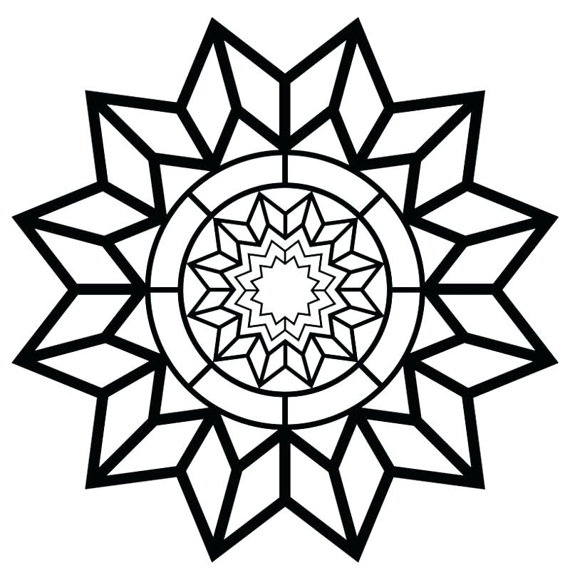 Simple Adult Coloring Pages at GetColorings.com | Free ...