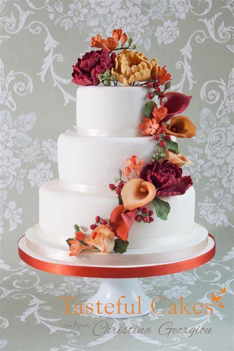 wedding cakes with cascading flowers   Cake Decorating