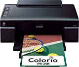 EPSON Colorio 有線・無線LAN標準搭載 インクジェットプリンタ 4色顔料インク PX-201