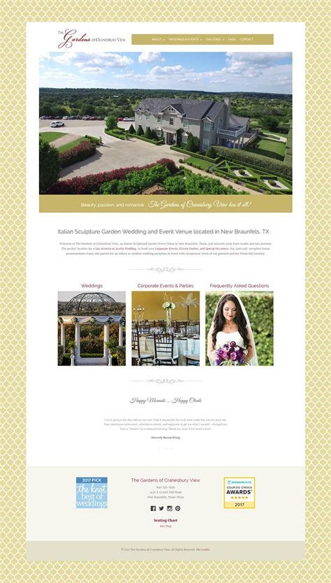 Web Design for a Wedding & Event Venue in New Braunfels