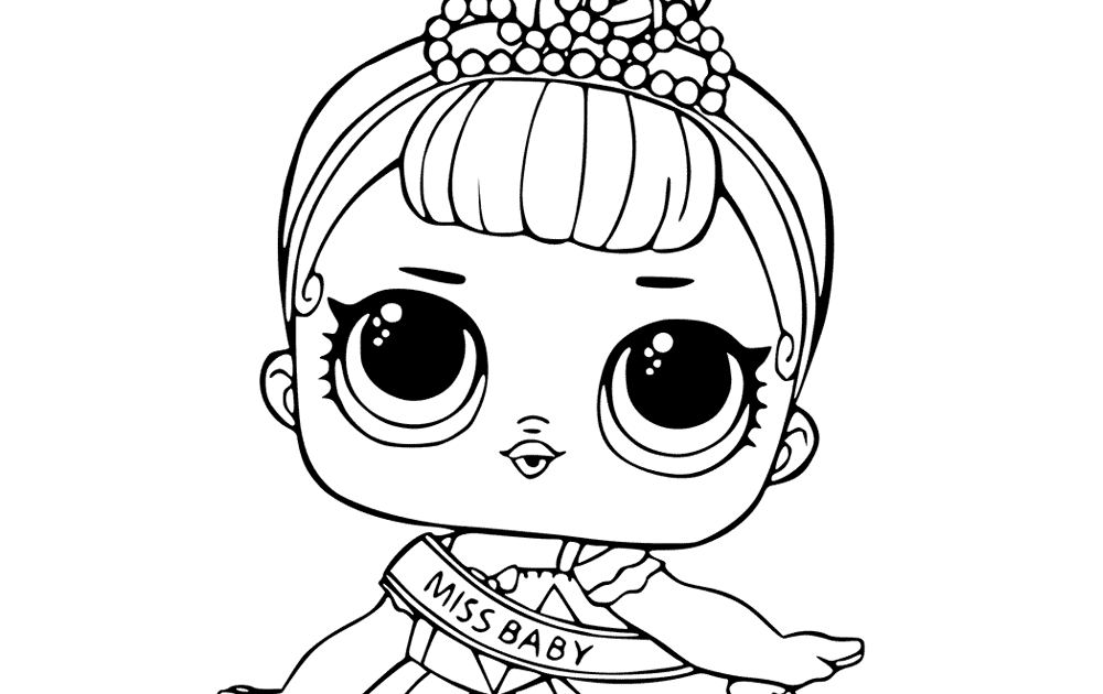 Baby Lol Surprise Coloring Pages - Free Coloring Page
