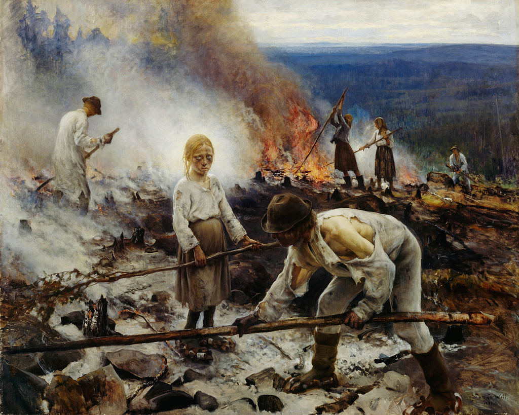 """Programmers at work maintaining a Ruby on Rails application"" Eero Järnefelt, Oil on canvas, 1893(Collaboration from Jaakko Koskenkorva)"